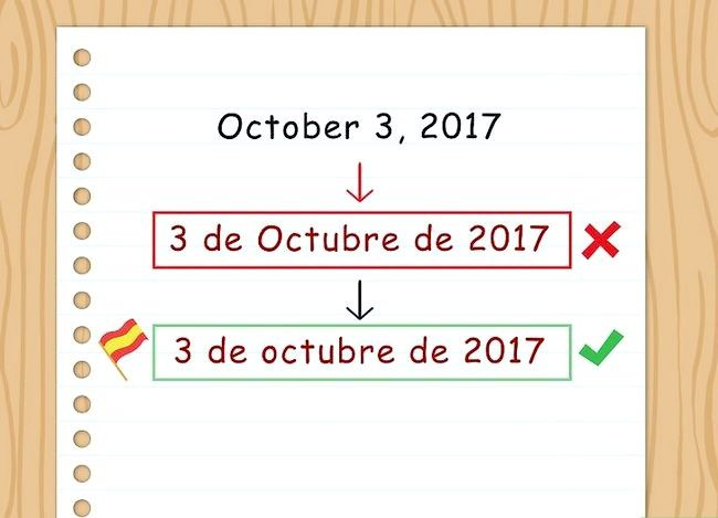 Titel afbeelding Write the Date in Spanish Step 3