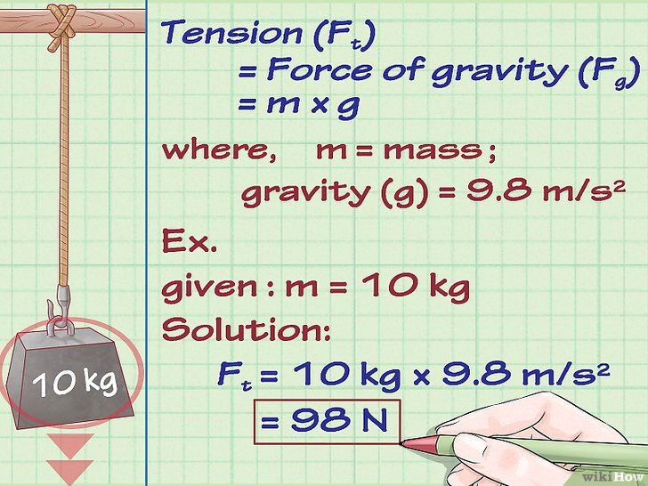 Bereken spanningen (spanningskrachten) in de natuurkunde