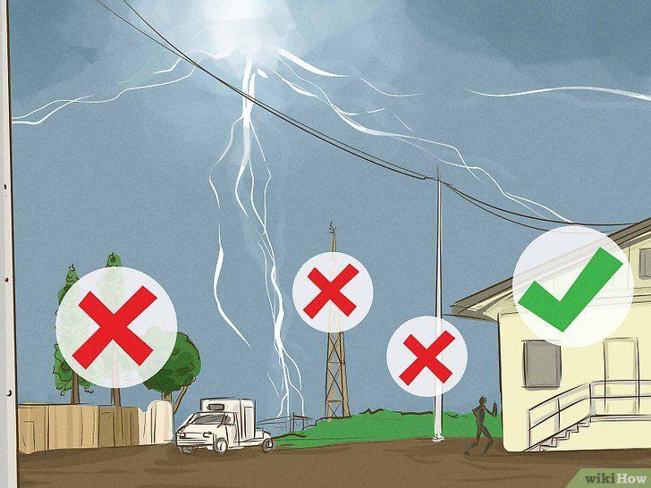Zoek bescherming tegen onweer