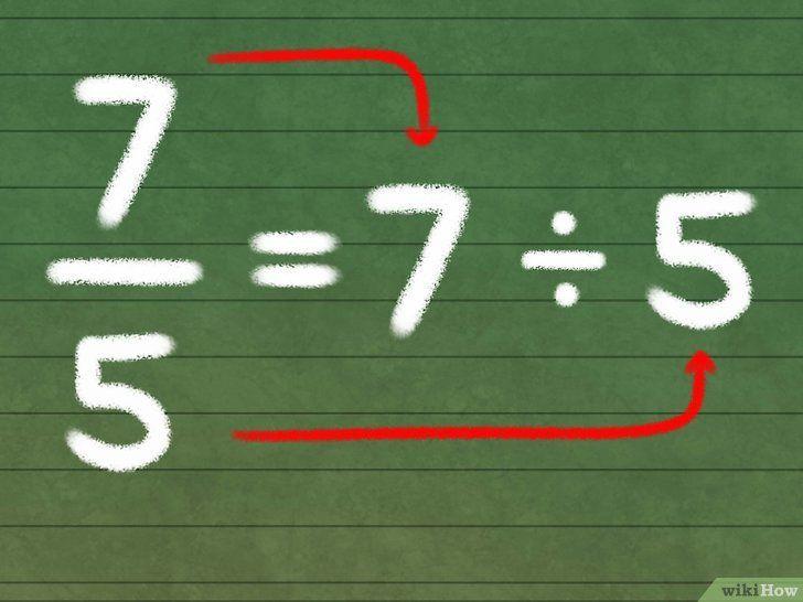 Titel afbeelding Convert Improper Fractions Into Mixed Numbers Stap 1