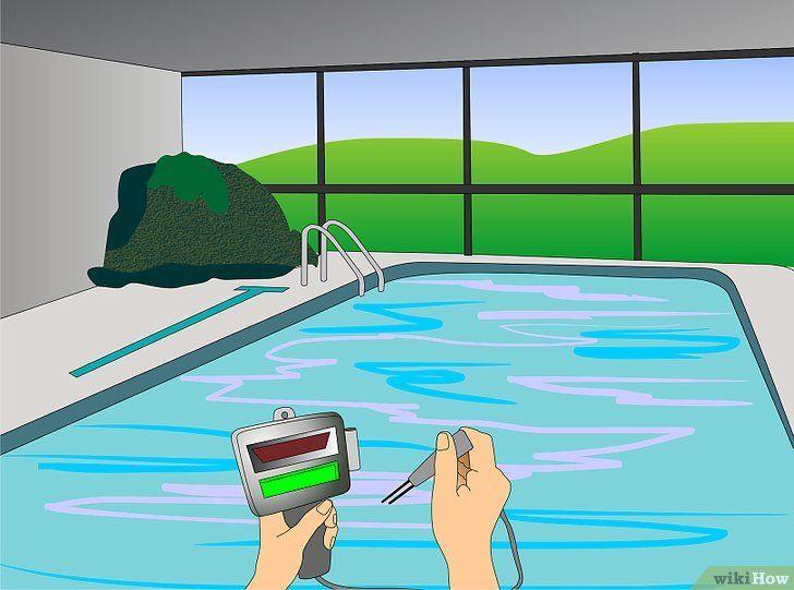 Bewolkt zwembad om water te diagnosticeren