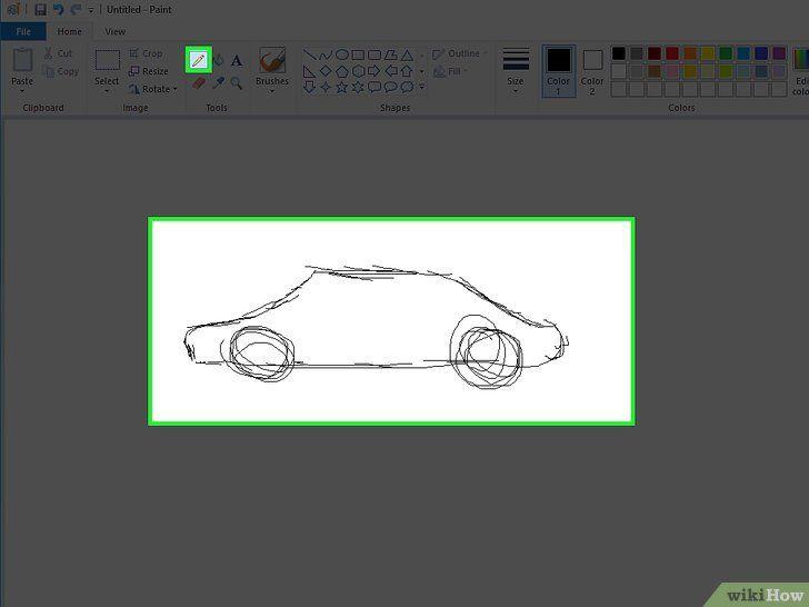 Teken en kleur met Microsoft Paint