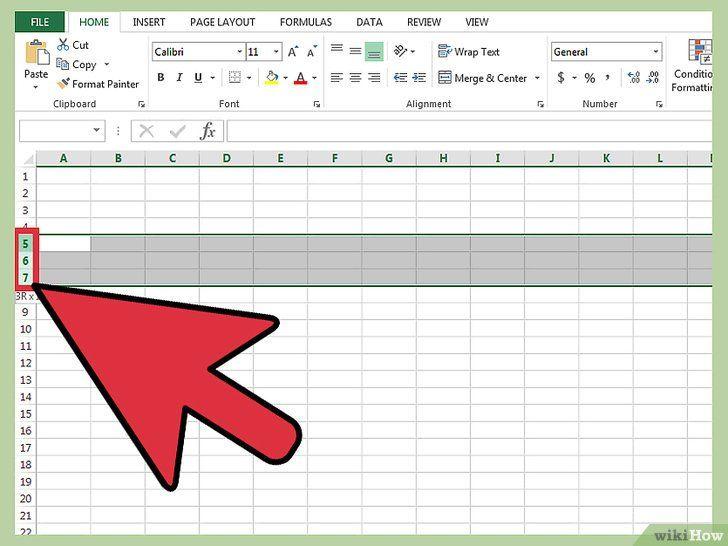 Verberg lijnen in Excel
