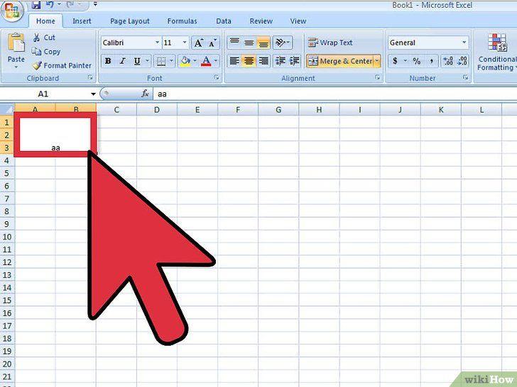 Ontkoppel cellen in Excel