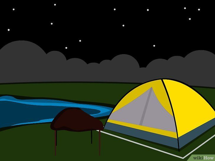 Titel afbeelding Camp in a Tent on a Campsite Stap 12