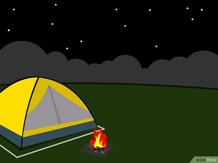 Titel afbeelding Camp in a Tent on a Campsite Stap 14