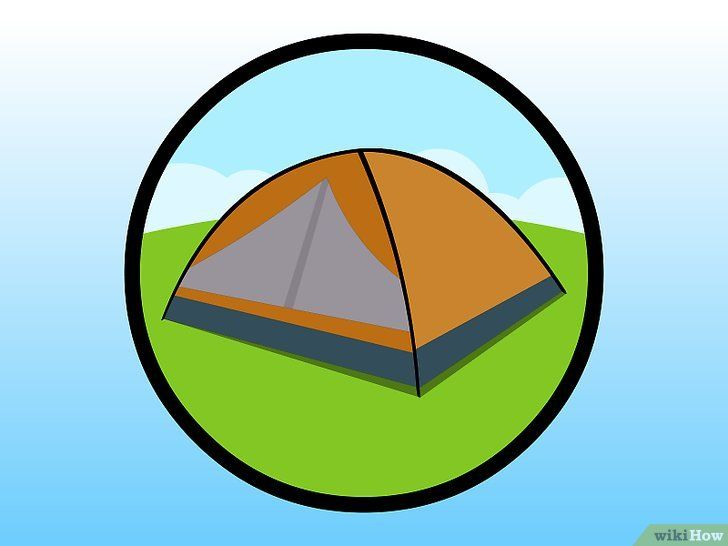 Titel afbeelding Camp in a Tent on a Campsite Stap 2