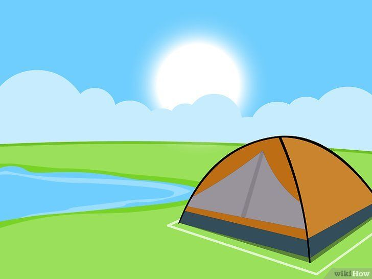 Titel afbeelding Camp in a Tent on a Campsite Stap 9