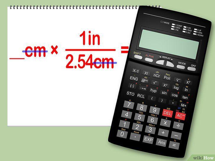 Converteer centimeters naar inches