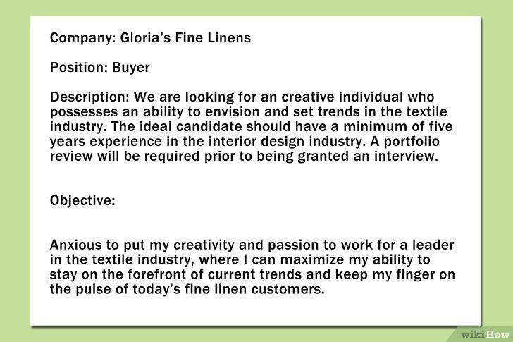 Formuleer doelen in het CV