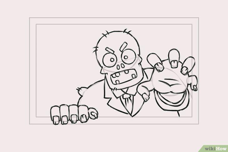 Titel afbeelding Draw Zombies Step 6
