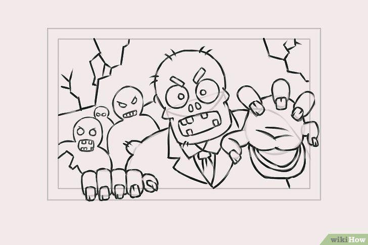 Titel afbeelding Draw Zombies Step 8