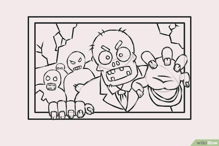 Titel afbeelding Draw Zombies Step 9