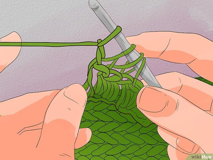 Titel afbeelding Crochet Cable Stitch Step 22