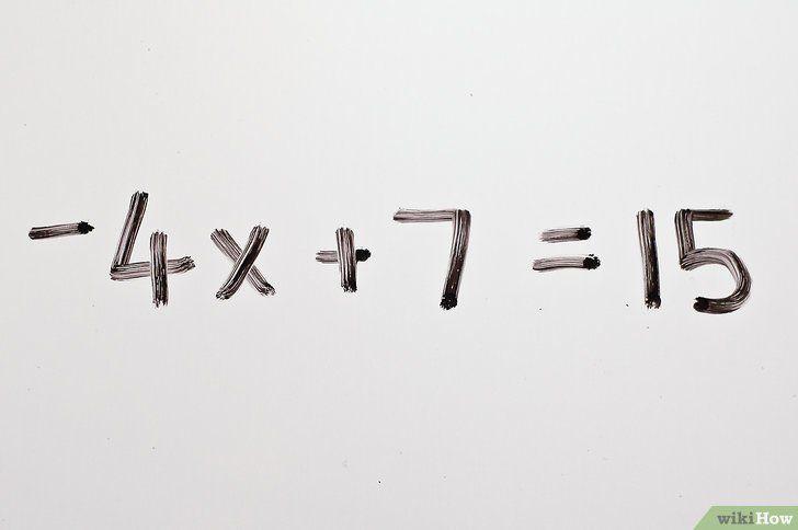 Titel afbeelding Solve Two Step Algebraic Equations Step 1