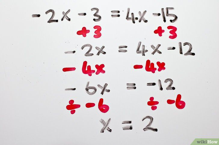 Titel afbeelding Solve Two Step Algebraic Equations Step 12