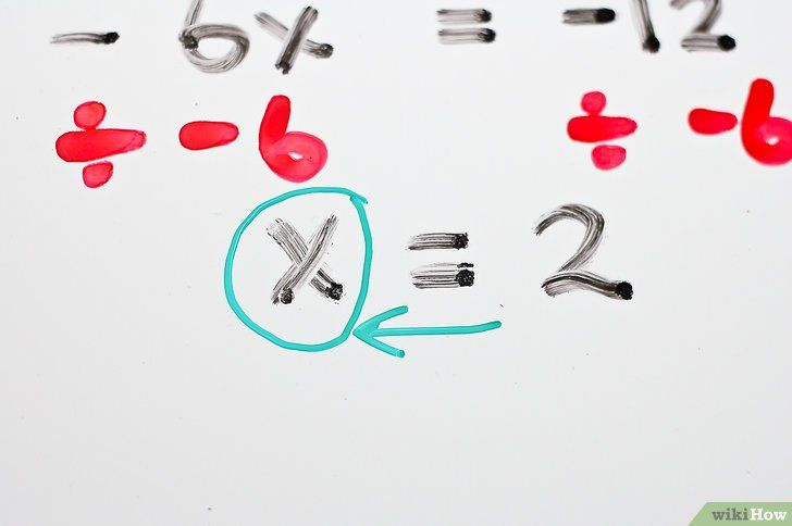Titel afbeelding Solve Two Step Algebraic Equations Step 13