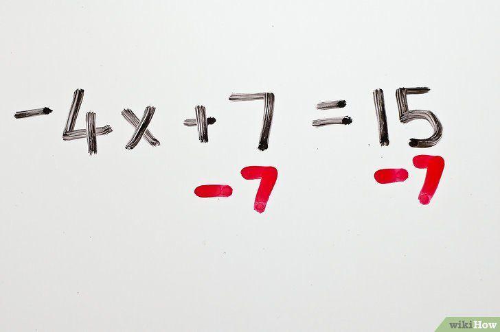 Titel afbeelding Solve Two Step Algebraic Equations Step 2
