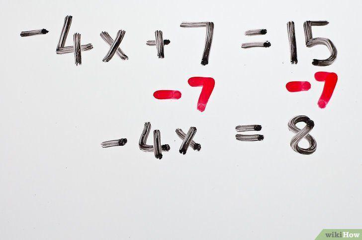 Titel afbeelding Solve Two Step Algebraic Equations Step 3