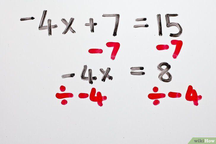 Titel afbeelding Solve Two Step Algebraic Equations Step 4