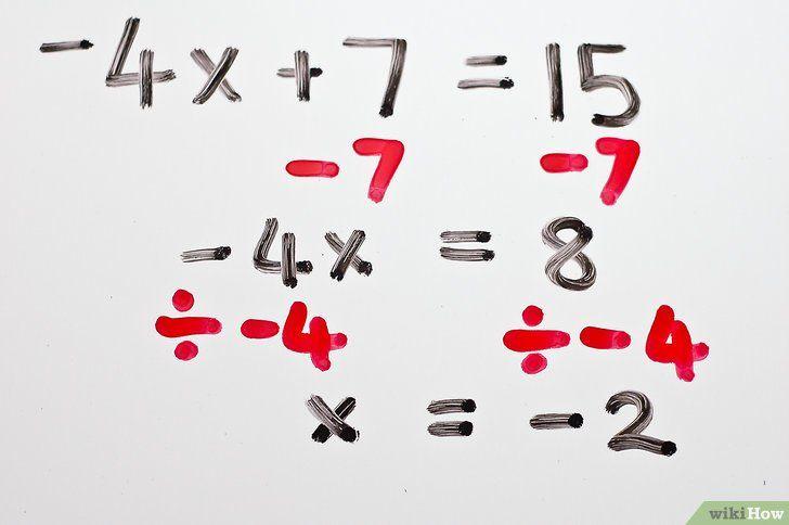 Titel afbeelding Solve Two Step Algebraic Equations Step 5