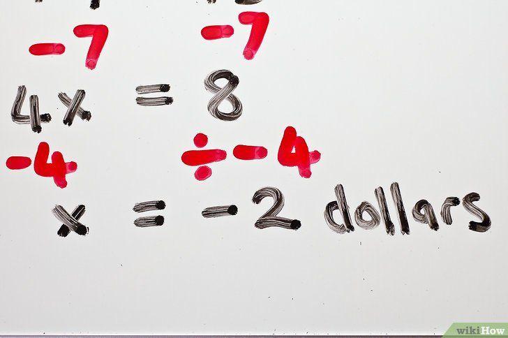 Titel afbeelding Solve Two Step Algebraic Equations Step 6