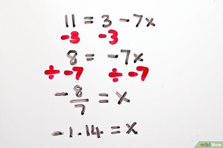 Titel afbeelding Solve Two Step Algebraic Equations Step 7