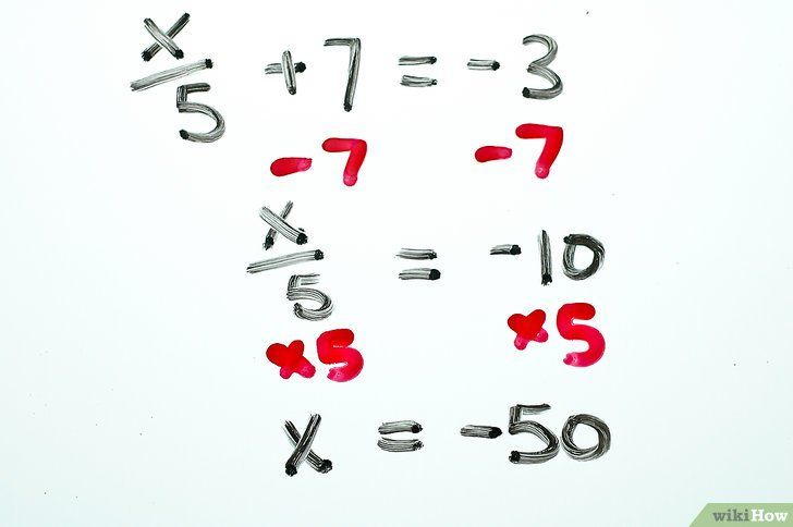 Titel afbeelding Solve Two Step Algebraic Equations Step 8