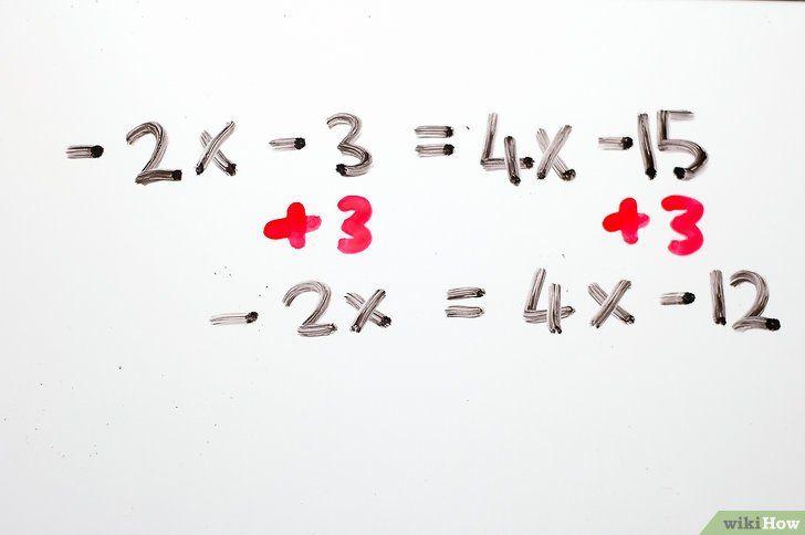 Titel afbeelding Solve Two Step Algebraic Equations Step 10