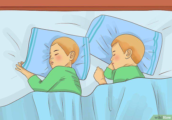 Twee peuters naar bed brengen